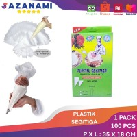 PLASTIK SEGITIGA PAPPING BAG PIPING BAG PLASTIK KUE 1 PACKC 100 PCS