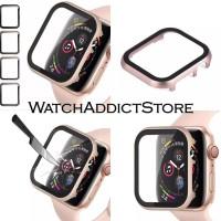 metal case + antigores apple watch iwatch iwo rosegold rosepink 40mm
