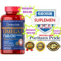 OMEGA 3 OBAT JANTUNG STROKE KOLESTEROL MIGRAIN 1360MG 120 Vitamin C D3