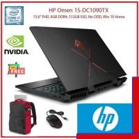 HP Omen 15-dc1090TX i7 9750H 8GB 512ssd GTX1650 4GB W10
