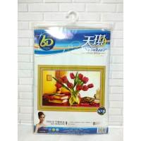 Paket Sulam Kristik TIMKEE-90515 Bunga Flower Tulip