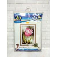 Paket Sulam Kristik TIMKEE-90255 Bunga Flower Tulip