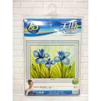 DISKON - Paket Sulam Kristik TIMKEE-90269 Bunga Flower Anggrek Orchid