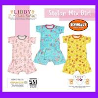 Baju setelan pendek anak perempuan Libby batik series S, M, L