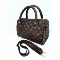 Tas wanita cewek branded speedy handbag kotak damier monogram batik