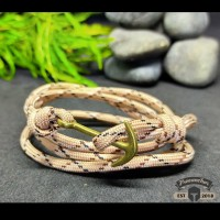 GELANG PRIA TALI PARACORD LOOP STYLE WITH ANCHOR NEW COLOR