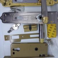 Kunci pintu besar ATC+badan SKT jadul/handle+bodi/lockset/lockcase