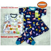 Baju setelan anak Velvet junior CPR size S, M, L