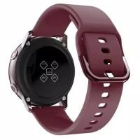 Strap tali jam 20mm Samsung Galaxy Watch ACTIVE Amazfit 245 RED WINE