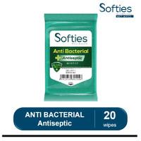 Softies Anti Bacterial + Antiseptic Tisu basah isi 20 wipes