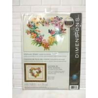 Paket Kristik Original Dimensions 70-35336 Wildflower Wreath Bunga