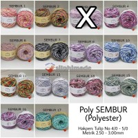 Poly SEMBUR Medium (Benang Rajut Polyester)