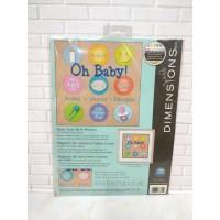 Paket Kristik Original Dimensions 70-73811 Baby Dots Birth Record Bayi