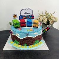 Jual Kue Ultah Tart Karakter Tayo Jakarta Selatan Vitacookies Tokopedia