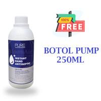 PURE hand sanitizer ASEPTIC GEl ONEMED 1000ML + Botol Pump 250ML