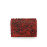 Card Holder Branded VERMONT K002 Kulit Asli Maroon Original Leather