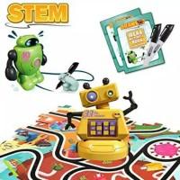 mainan draw robot spidol drawbot marker line toy