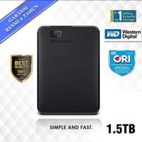 "Harddisk Eksternal WD Elements 1.5TB 2.5"" USB3.0 HDD External"