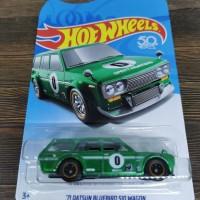 Hot Wheels 71 Datsun 510 Bluebird Wagon Legends Tour hijau hotwheels