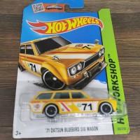 Hot Wheels 71 Datsun 510 Wagon Bluebird reguler kuning HotWheels