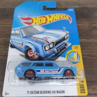 Hot Wheels 71 Datsun 510 Wagon Bluebird reguler biru HotWheels