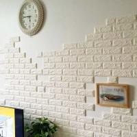 Sticker 3D Bata Kesan Artistik // Cafe // Brick Wallpaper