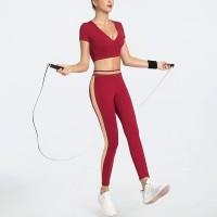 set pakaian yoga dan gym wanita bon qireas