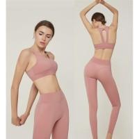 set pakaian yoga dan gym wanita bon nioe