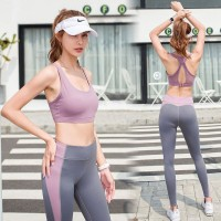 set pakaian yoga dan gym wanita bon vevire