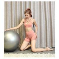 set pakaian yoga dan gym wanita bon huilw