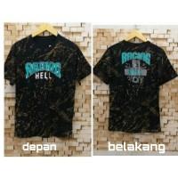 T-shirt Racing Hell Loreng / Baju Kaos Distro Pria Wanita Cotton 30s