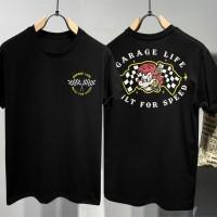 T-shirt Garage Life / Baju Kaos Distro Pria Wanita Cotton 30s