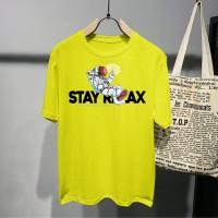 T-shirt AST Stay Relax / Baju Kaos Distro Pria Wanita Cotton 30s