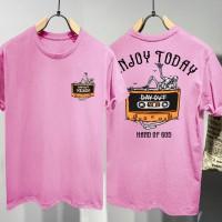 T-shirt Enjoy Today / Baju Kaos Distro Pria Wanita Cotton 30s