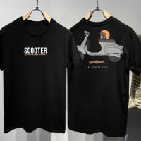 T-shirt Scooter Frame/ Baju Kaos Distro Pria Wanita Cotton 30s