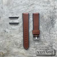 Strap apple watch iwo samsung fitbit tali jam kulit asli two tone 1
