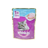 Whiskas Pouch Ocean Fish Kucing 85gr