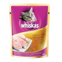 WHISKA5S POUCH CHICKEN TUNA KUCING 85GR