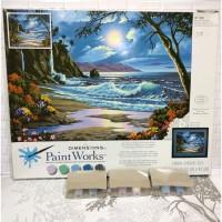 Paket Melukis Paint By Number Dimensions 91185 Moonlit Paradise Pantai