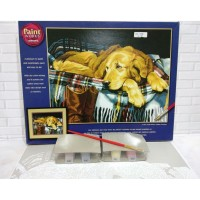 Paket Melukis Paint By Number Dimensions 91110 Loyal Friend Anjing