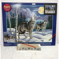 Paket Melukis Paint By Number Dimensions 91004 Call Of Wilderness Wolf