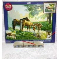 Paket Melukis Paint By Number Dimensions 91159 Horse By A Stream Kuda