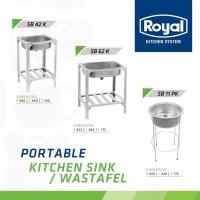 Bak cuci portable/kitchen sink/wastafel Royal SB 42K stainless steel