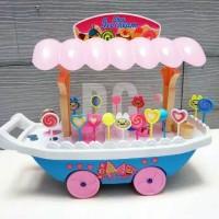 mainan gerobak ice cream & candy gerobak dorong eskrim lolipop