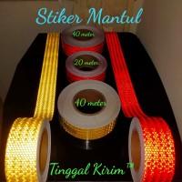 Sticker Reflective Mobil Box / Truk. Stiker Mantul Keselamatan 20 mtr.
