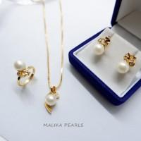 Set Perhiasan Mutiara Air Laut Asli Gift Hadiah Mewah dan Unik 5