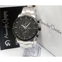 Jam tangan pria cowok alexandre christie original chrono stainless 1