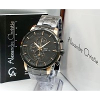 Jam tangan pria cowok alexandre christie original chrono stainless 2