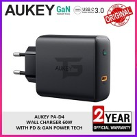 AUKEY PA-D4 60W Travel Charger Power Delivery PD Macbook Pro GaN Fast