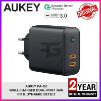 AUKEY PA-D2 36W Travel Charger 2 Port Power Delivery PD Fast Charging